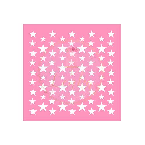 Στένσιλ αστέρια μικρά και μεσαία.