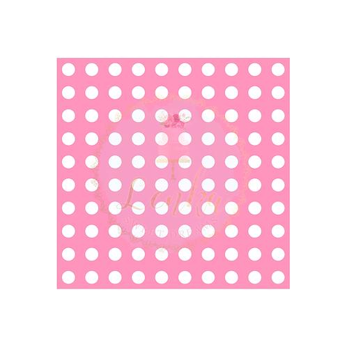 Στένσιλ μικροί κύκλοι σε σειρές.