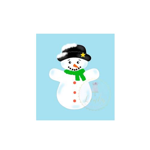 Κουπάτ χιονάνθρωπος με καπέλο.
