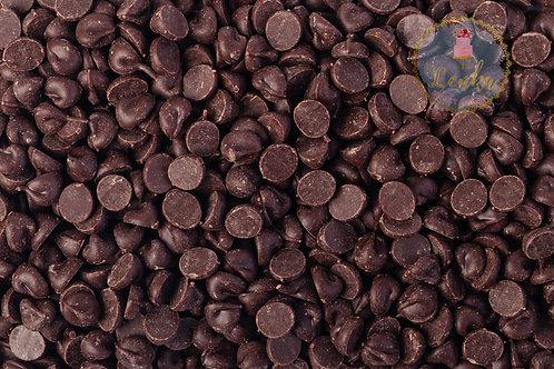 Σκούρα σοκολάτα σε σταγόνες.