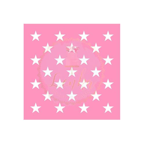 Στένσιλ αστέρια με κενά ενδιάμεσα.