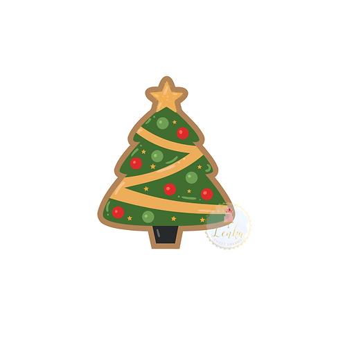 Κουπάτ χριστουγεννιάτικο δέντρο με αστέρι.