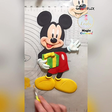 Mickey Mouse Cake Tutorial.