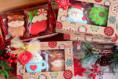 Χριστουγεννιάτικα μπισκότα gingerbread σε γιορτινή συσκευασία
