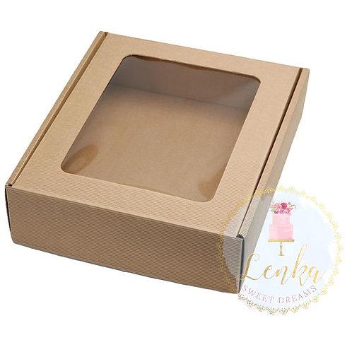 Κουτί αναδιπλούμενο κραφτ με παράθυρο.