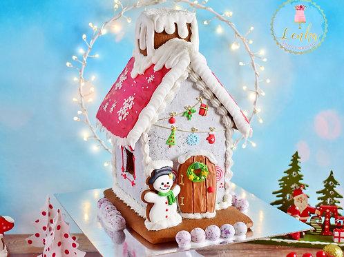 Χριστουγεννιάτικο σπιτάκι gingerbread.