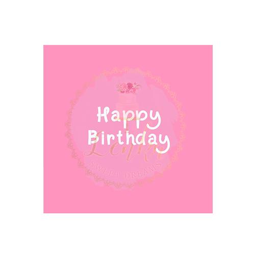 Στένσιλ ''Happy Birthday''.
