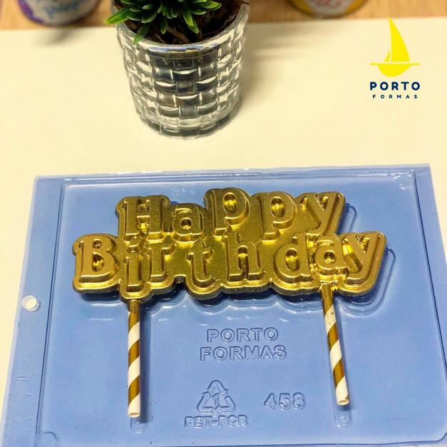 Καλούπι σοκολάτας ''Happy Birthday'' topper τούρτας_