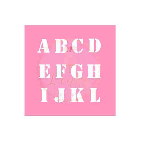 Σετ στένσιλ αγγλική αλφαβητική σειρά.