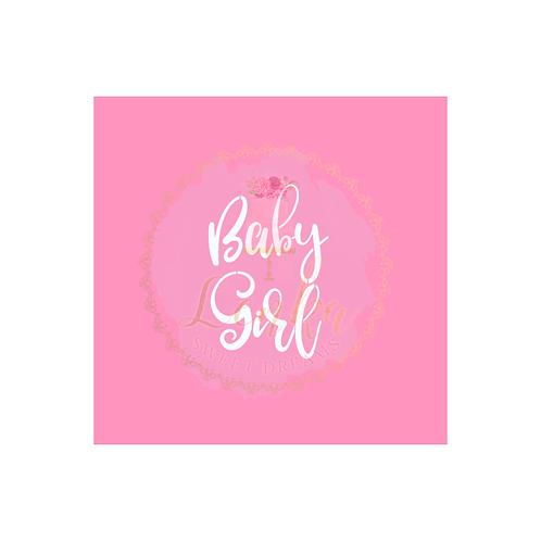 Στένσιλ Baby Girl.