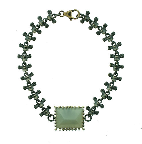 Spine Bracelet with Moonstone
