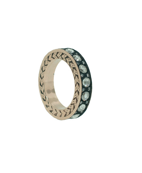 PitchBlack Rose Gold Eternity Band