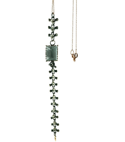 Spine Necklace with Aquamarine
