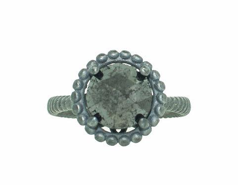 PITCHBLACK II ROOUND ROSE CUT BLACK DIAMOND RING