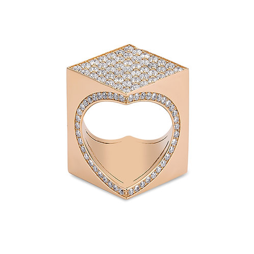 TheWord 18K Rose Gold with Pave Diamonds
