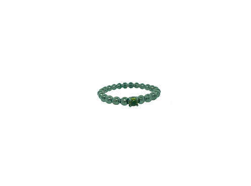 PitchBlack Stackable Ring With Green Tourmaline