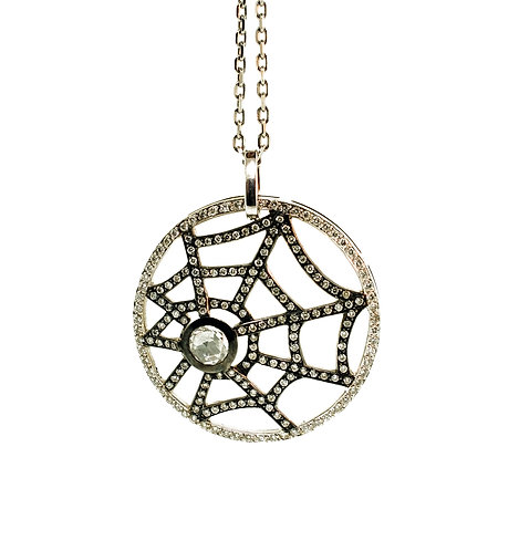 Web Necklace with Diamonds