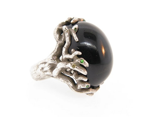 Black Onyx Branch Ring