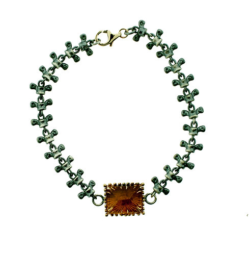 Spine Bracelet With Citrine