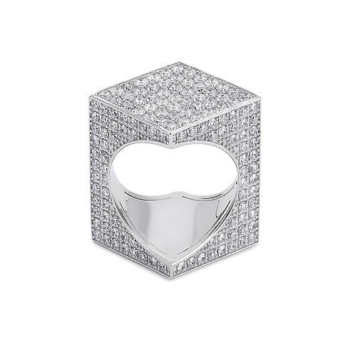 TheWord 18K White Gold with Pave Diamonds