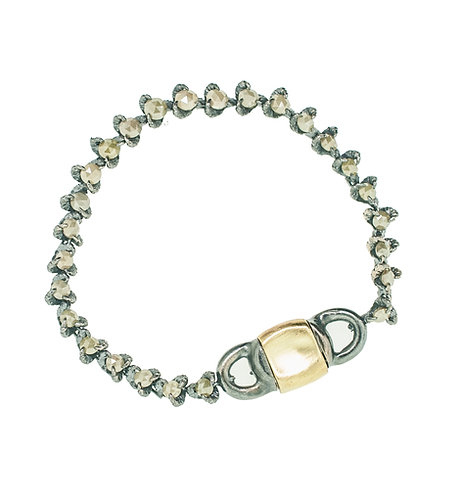 manVSwoman Opaque Green Diamond Tennis Bracelet
