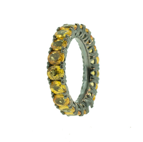 PITCHBLACK YELLOW SAPPHIRE ETERNITY BAND