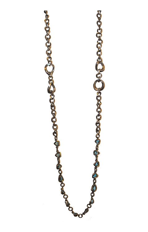 TheFORGE CHAIN WITH BLUE TOPAZ