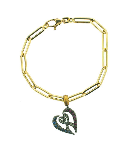Symbol of Love Charm Bracelet