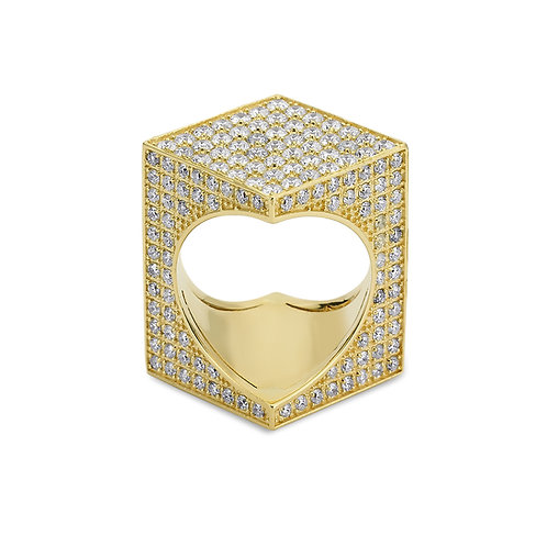TheWord 18K Yellow Gold with Pave Diamonds