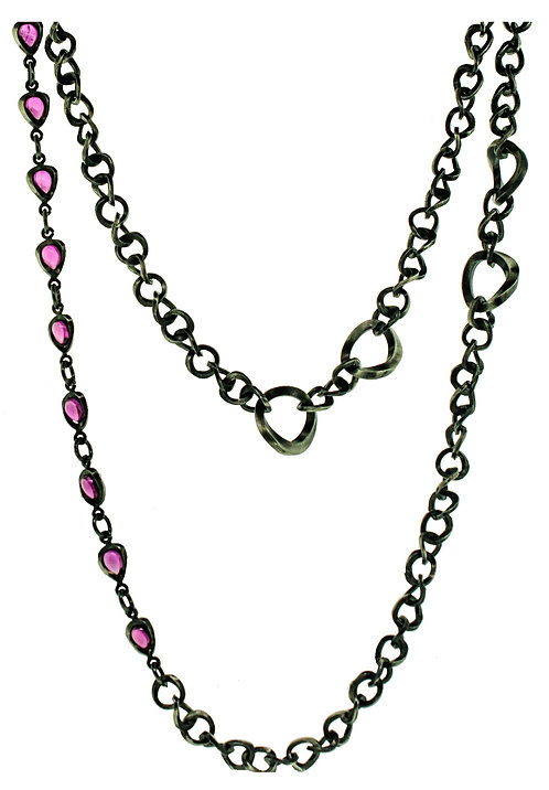 TheFORGE CHAIN with PINK SAPPHIRES