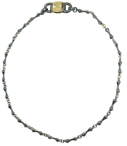 Bone Chain with Signature Gold Clasp-16 inches