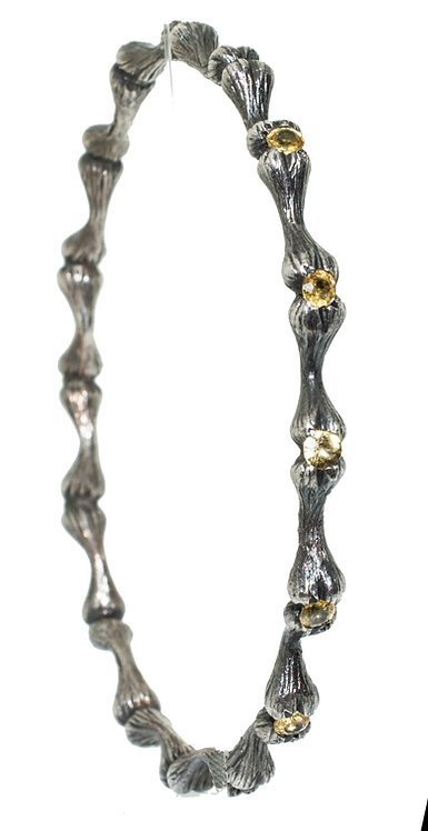 Bone Bracelet Yellow Sapphire