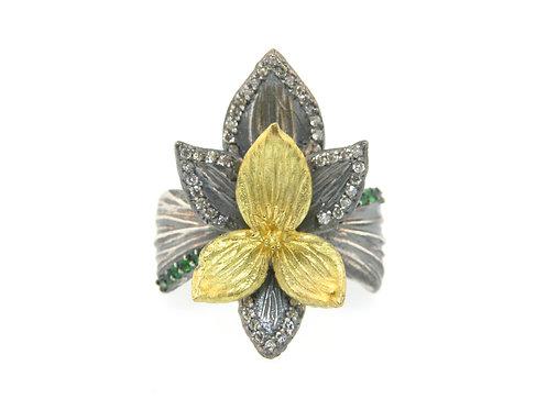 Autumn Crocus Flower Ring