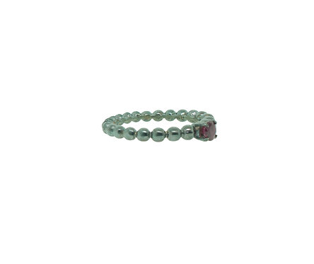 PitchBlack Stackable Ring with Ruby