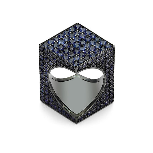 TheWORD Pave with Blue Sapphires