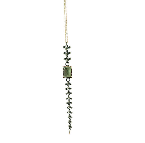 Spine Necklace with Phrenite
