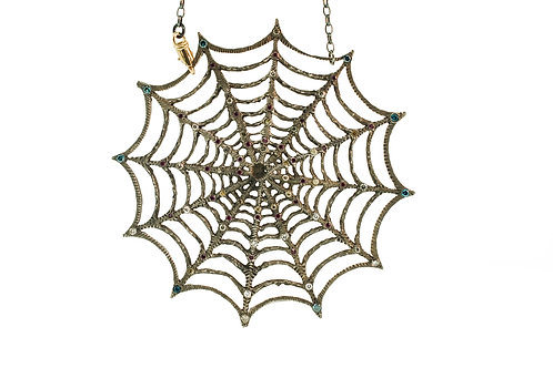 Spider Web Necklace with 2 clasps
