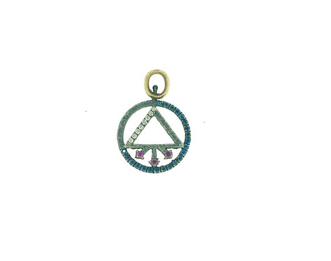 Symbol of Life Double Sided Charm