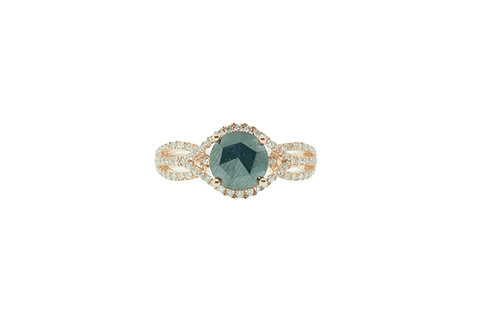 PitchBlack Rose Gold Engagement Ring