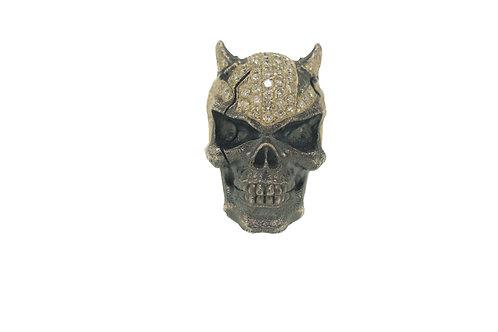 Skull Ring With Bulls