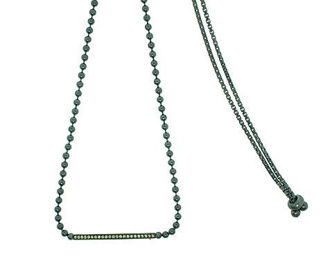 Pitchblack Choker Adjustable Slide Sapphires