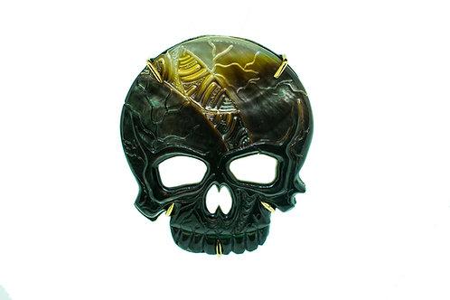 MotherOfPearl Skull Buckle