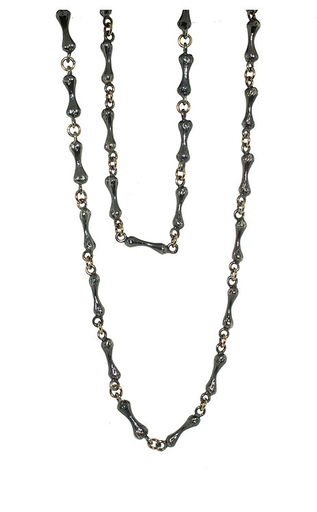 Bone Chain  Silver and Gold - 32 inch