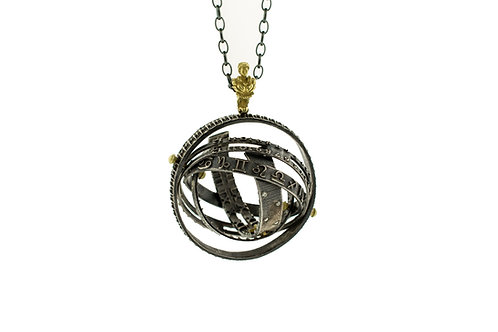 Spherical Astrolabe Pendant