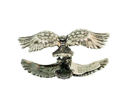 Oxidized Silver Double Bird Ring