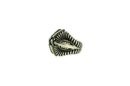 Predator Ring with Black Diamond