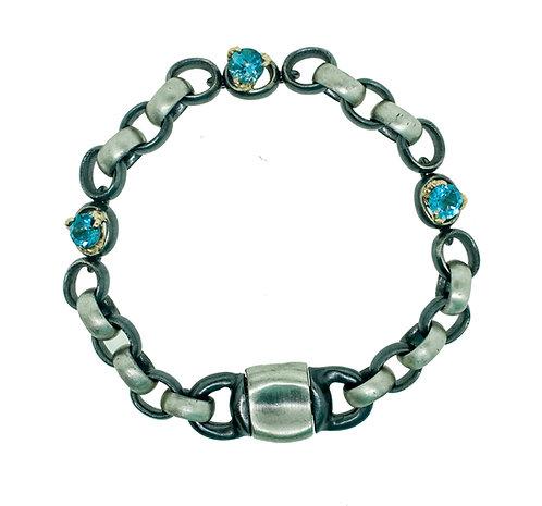 ManVSWoman Blue Topaz Claw Bracelet