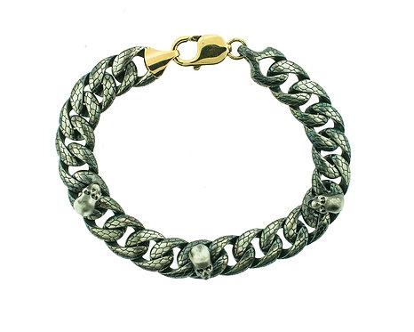 Python Bracelet with Screaming Skulls