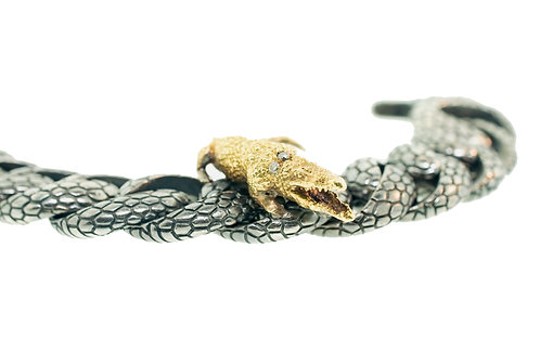 Crocodile Snake Link Bracelet
