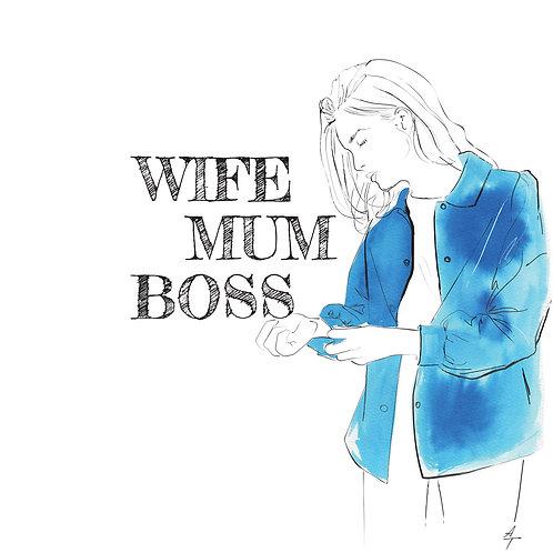 Carte WIFE MUM BOSS
